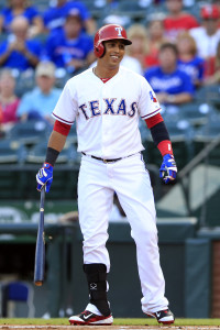 May 29, 2015; Arlington, TX, USA; Texas Rangers center fielder <a rel=