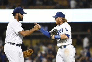 Kenley Jansen and Justin Turner