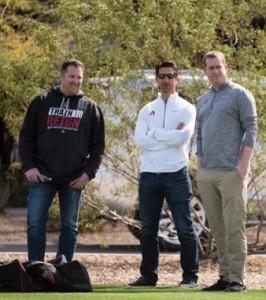 Jared Porter, Mike Hazen, Sam Eaton   Photo courtesy of Arizona Diamondbacks