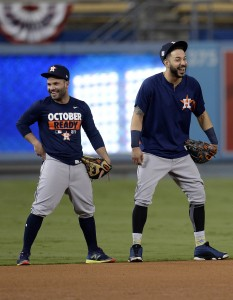Jose Altuve and Marwin Gonzalez | Gary A. Vasquez-USA TODAY Sports