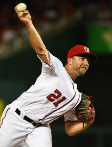 Aug 15, 2017; Washington, DC, USA; Washington Nationals relief pitcher Brandon Kintzler (21) throws a pitch against the Los Angeles Angels during the eighth inning at Nationals Park. Mandatory Credit: Brad Mills-USA TODAY Sports