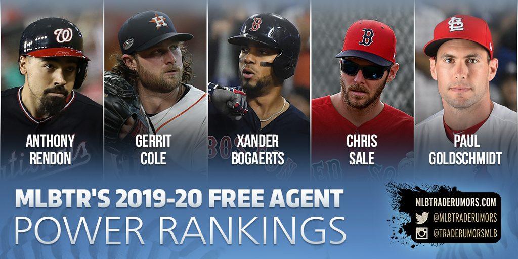 2019-20 MLB Free Agent Power Rankings - MLB Trade Rumors