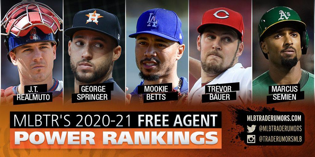 2020-21 MLB Free Agent Power Rankings