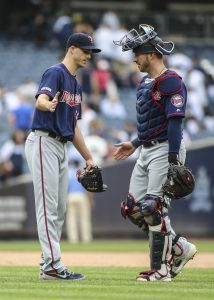 Taylor Rogers, Mitch Garver | Wendell Cruz-USA TODAY Sports