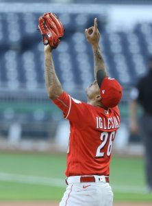 Raisel Iglesias | Charles LeClaire-USA TODAY Sports